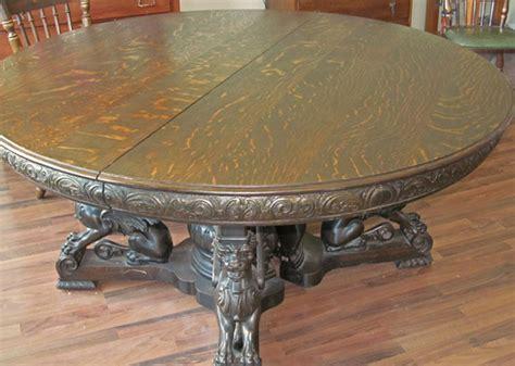 R.J. Horner Quartersawn Oak Winged Griffin Table