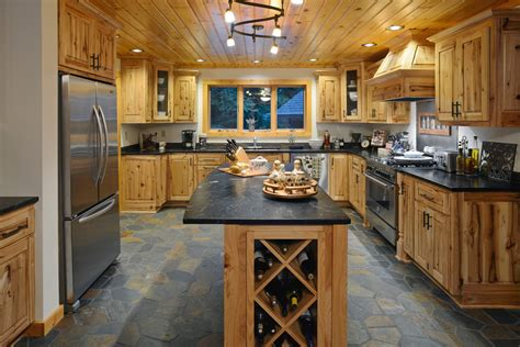 rustic hickory kitchen cabinets rustic hickory cabinets kitchen with storage canisters