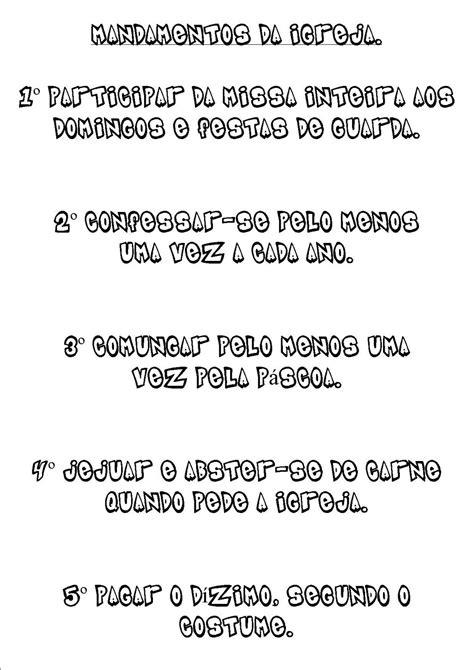 catequese infantil São josé Operário.: chamadinha dos dez
