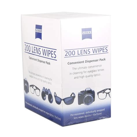 zeiss microfiber lens wipes pre moistened coated precision