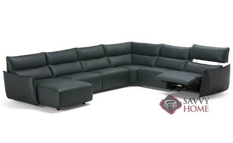 natuzzi leather power reclining sectional amusa c027 leather true sectional by natuzzi is fully