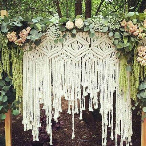 Wedding Vow Backdrop by 15 Macrame Wedding Backdrop Ideas Backdrops Weddings