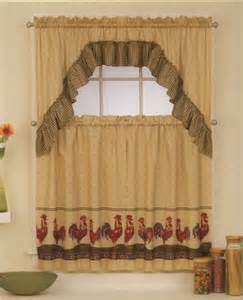 Rooster Kitchen Curtains Country Rooster Sunflower Tier Swag Kitchen Window Curtains On Popscreen