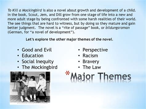 to kill a mockingbird scout themes to kill a mockingbird by harper lee ppt video online