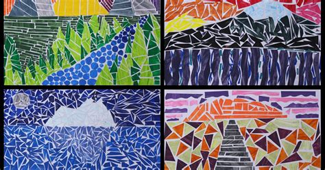 ideas for ks2 art club art with mr hall mosaic landscapes