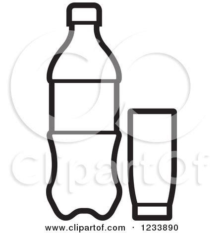 black and white chagne bottle clipart soda can black and white clipart clipart kid
