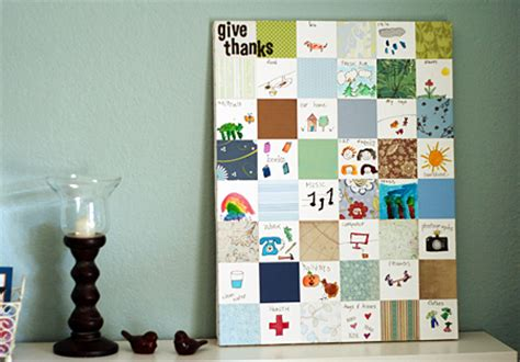 Paper Quilt Craft - thanksgiving family crafts traditions