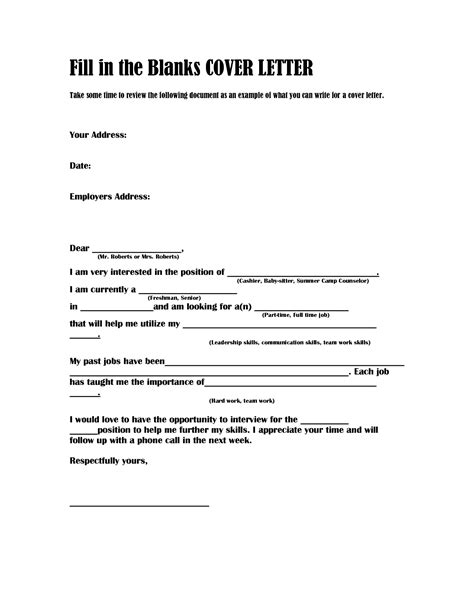 Fill In Cover Letter by Cover Letter Fill In Image Collections Cover Letter Sle