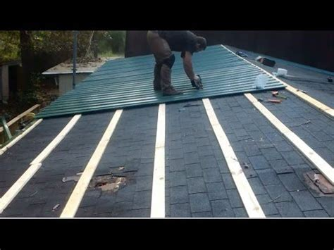 how to install on mobile metal roof shingles on a mobile home by myself