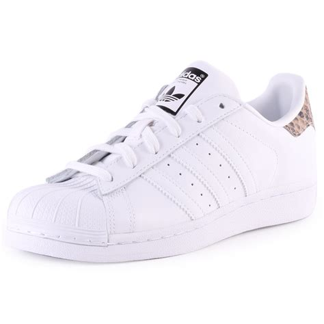 adidas superstar womens leather white trainers new shoes