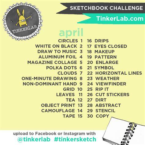 tinkersketch instagram sketchbook challenge tinkerlab