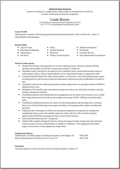 Administrative Assistant Resume by Great Administrative Assistant Resumes Administrative