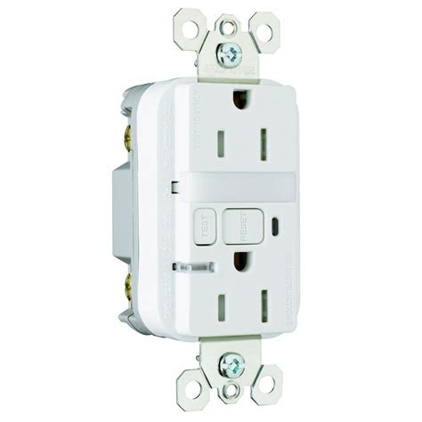 gfci outlet with night light legrand pass seymour 15 amp ter resistant gfci duplex