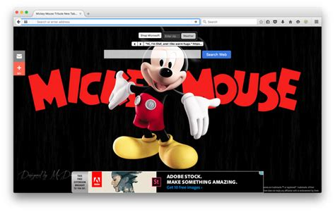 firefox mouse mickey mouse tribute new tab modules pour firefox