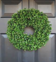 artificial boxwood wreath 16 inch front door wreaths wedding