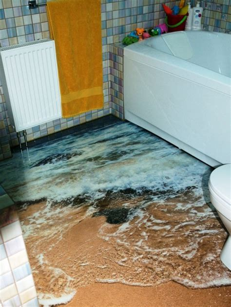 awesome bathroom  floor designs