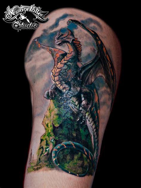 dragon tattoo big cover by newagetattoo on deviantart