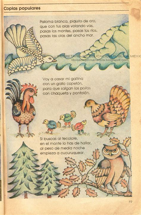 libro rojo de las aves de espa 241 coplas de aves libros de primaria de los 80 s coplas populares espa 241 ol