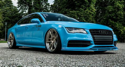 audi a7 slammed audi a7 transformed from exec to slammed bad boy