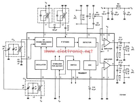 am radio integrated circuit am radio receiver circuit using tea5551t monolithic integrated radio