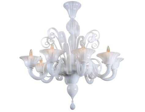 white chandelier nella vetrina white murano 8 murano chandelier in white glass