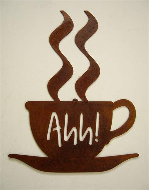 Steel coffee sign Coffee Break latte mocha java by jtwfabrication