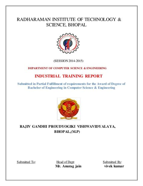 industrial training report on java