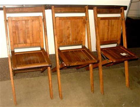 vintage wood folding chairs value 3 antique vtg simmons co wooden oak slat folding chairs