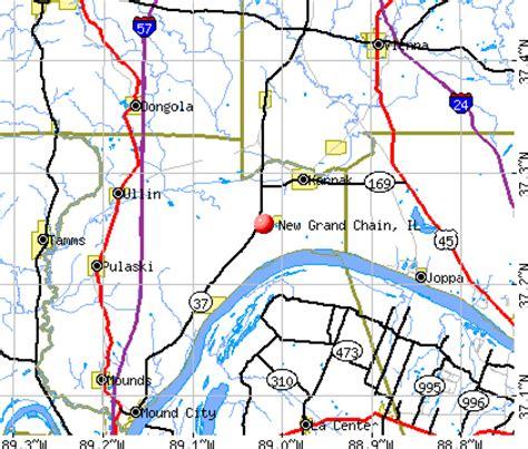 grand il map new grand chain illinois il 62956 profile population
