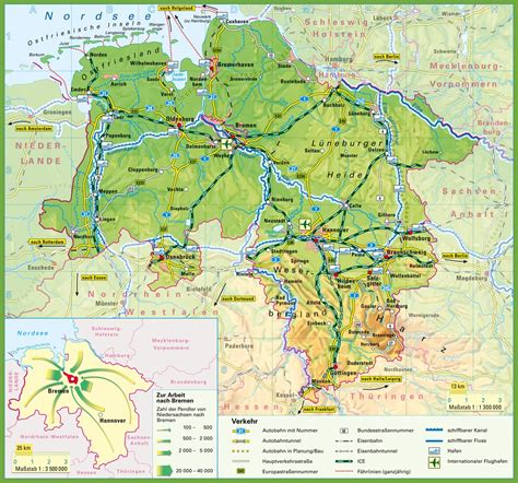 saxony germany map lower saxony map with cities and towns