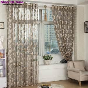 Modern Print Curtains Modern Floral Print Curtains Window Transparent Voile Curtains Curtain Fabric Style Window