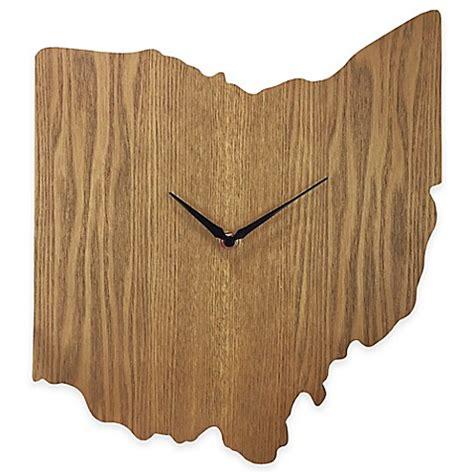 ohio woodworking ohio state wood grain wall clock bed bath beyond