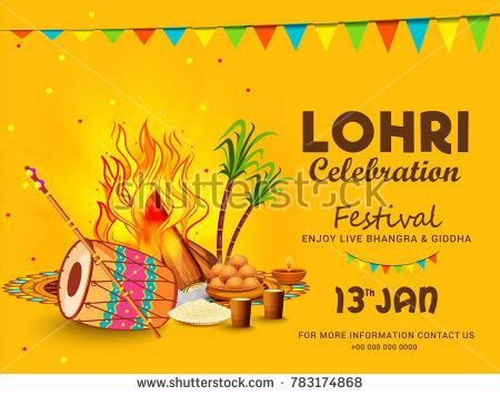 Lohri Stock Images Royalty Free Images Vectors Shutterstock Lohri Invitation Templates