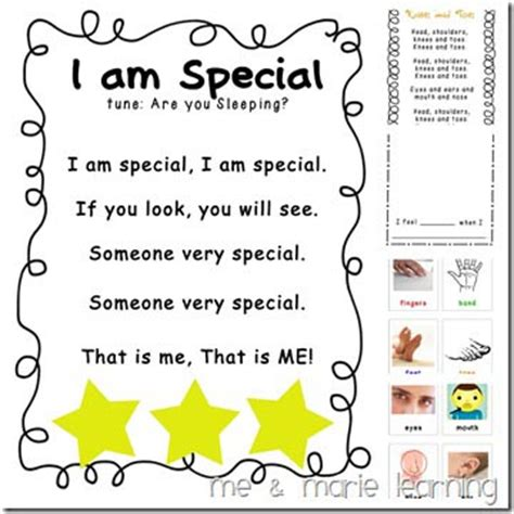 song pre k quot all about me quot free printables and activities for back to
