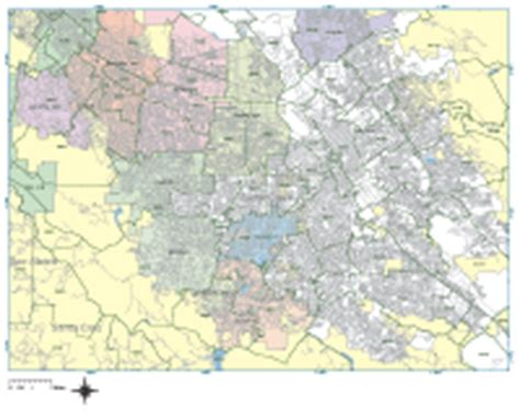 san jose zip code map san jose digital vector maps editable illustrator pdf vector map of san jose