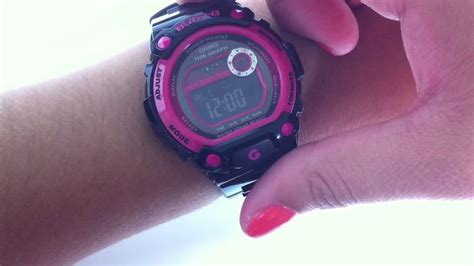 Baby G Casio Adventure Pink Black black and pink casio baby g tide graph blx100 1