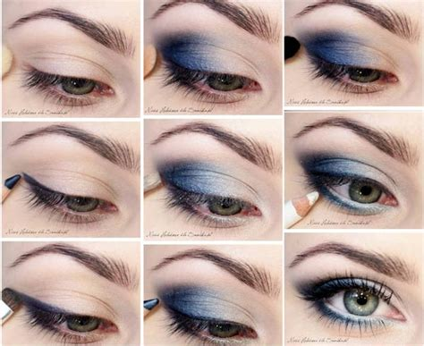 eyeliner tutorial for blue eyes chic blue smoky eye makeup tutorial styles weekly