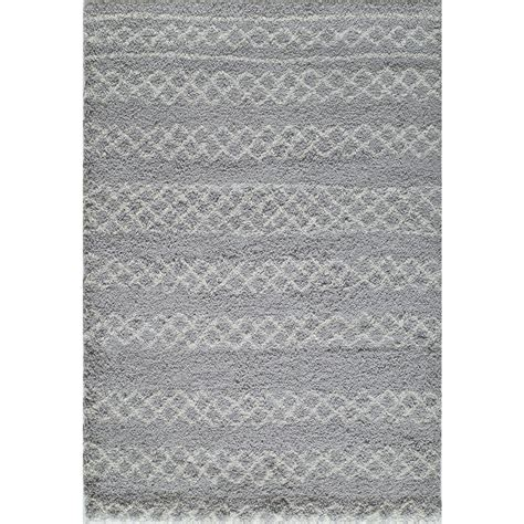 nuloom roscoe shaggy grey 5 ft 3 in x 7 ft 6 in area