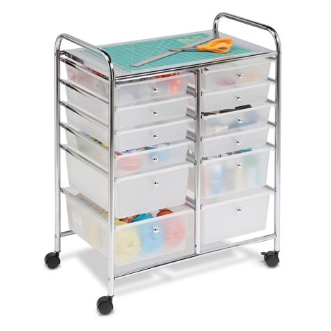 Papercraft Storage - drawer 12 utility cart organizer studio storage