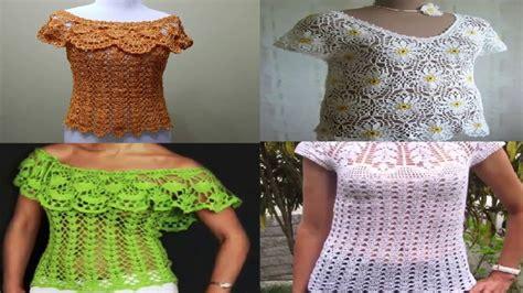 ver a travs de la blusa ganchillo blusa patrones tallas grandes de colecci 211 n completa de blusa tejidas en crochet 2017 solo