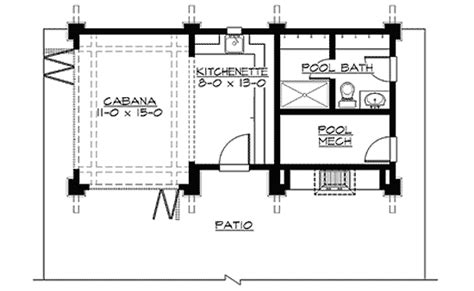 cabana plans with bathroom mountain cabana with views 23451jd cad available