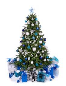 winter blue and white christmas tree home decor ideas