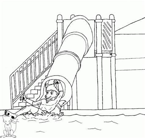 water play coloring page water slide coloring page coloring home