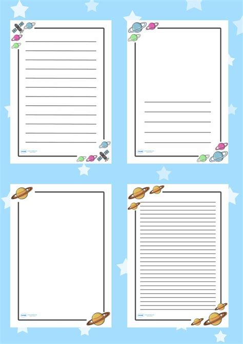 printable lined paper ks1 lined writing paper with border ks1 lined border paper 7