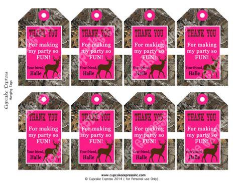 printable hunting tags diy camo girl hunting birthday party printable hanging