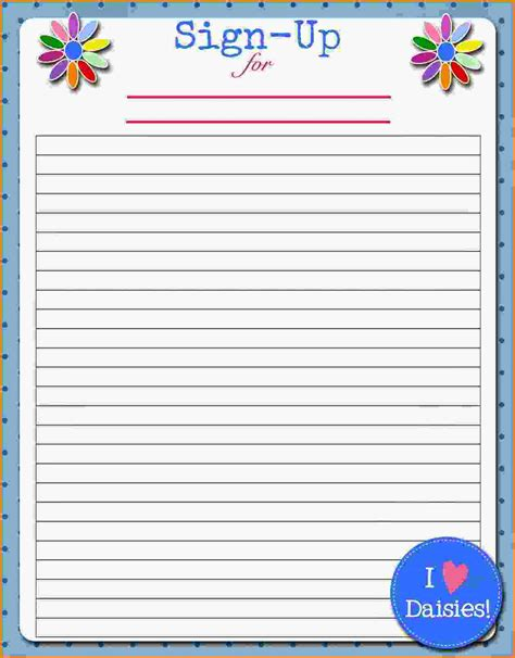 ideas stin up printable sign up sheets portablegasgrillweber