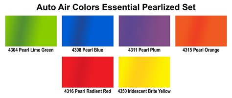paint colors sles 4966 00 essential pearlized colors set 4oz airbrush