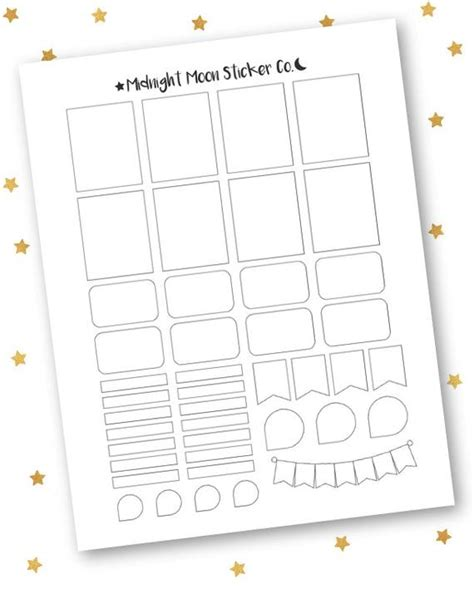 Mixed Template Printable Template Vertical Erin Condren Life Planner Stickers From Erin Condren Planner Stickers Template