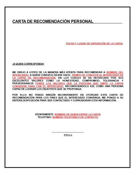 modelo carta recomendacion personal 2 m 225 s de 25 ideas incre 237 bles sobre formato de carta de