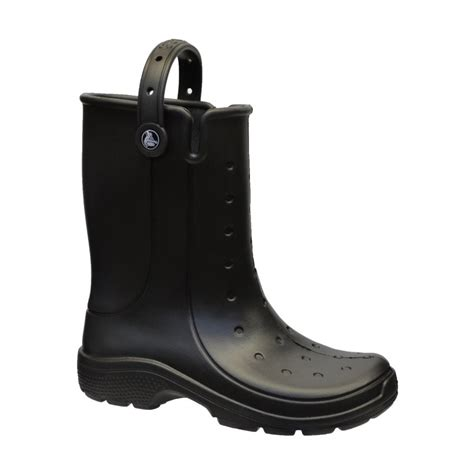 mens croc boots crocs crocs reny ii black n59 16010 wellie mens